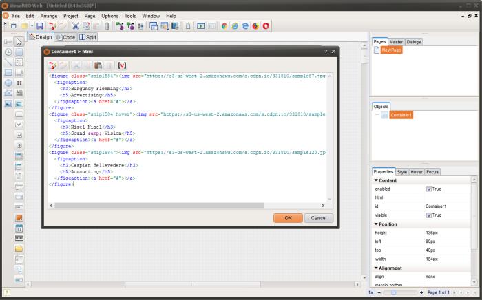 VisualNEO Web HTML code editor