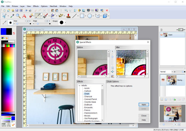 PixelNEO Image Editor Software screenshot